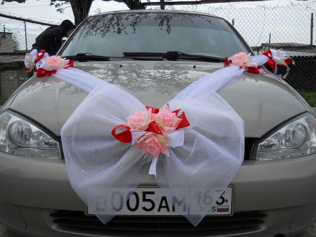 Цветы и украшения для свадебных машин своими руками