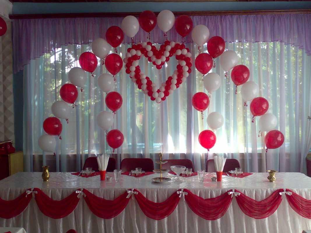 Украшение зала для свадьбы своими руками фото шарами