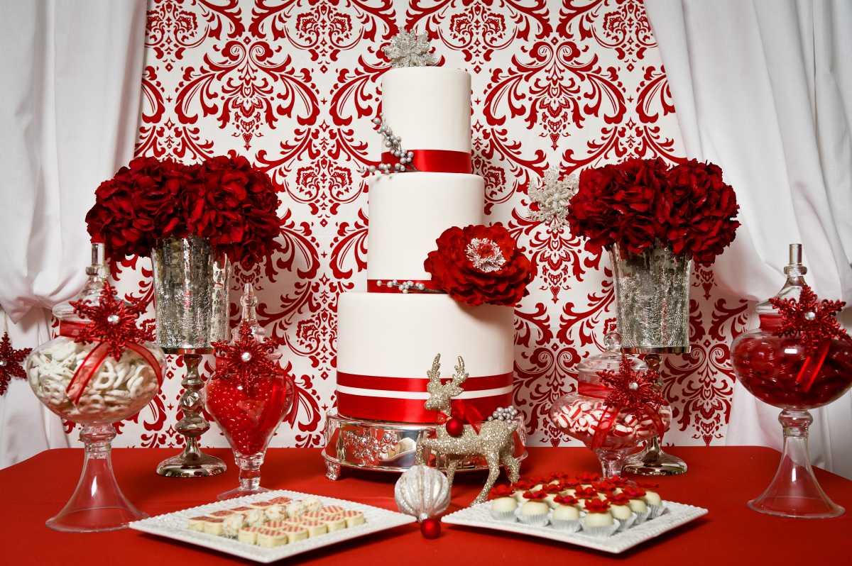 Свадебный декор красного цвета