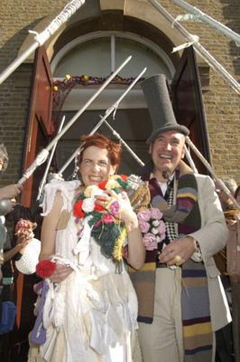 Необычная the Knitted Wedding