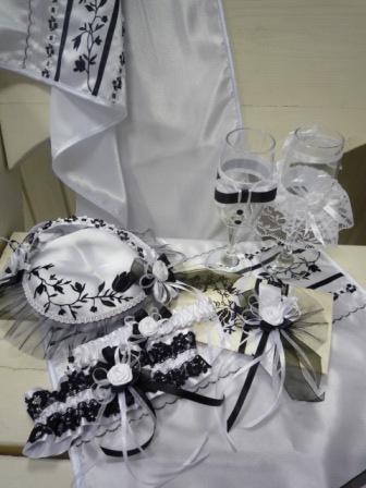 aksessuary-CHB Свадьба в черно-белом стиле