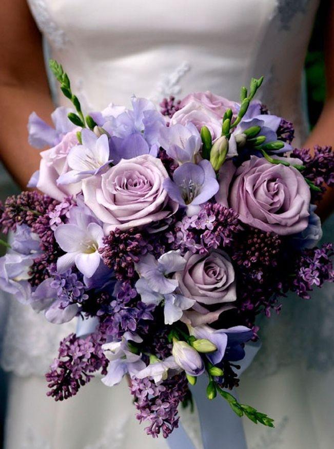 """buket-nevesty-siren Свадьба в стиле """"Сирень"""": используем цветы сирени и сиреневый цвет"""