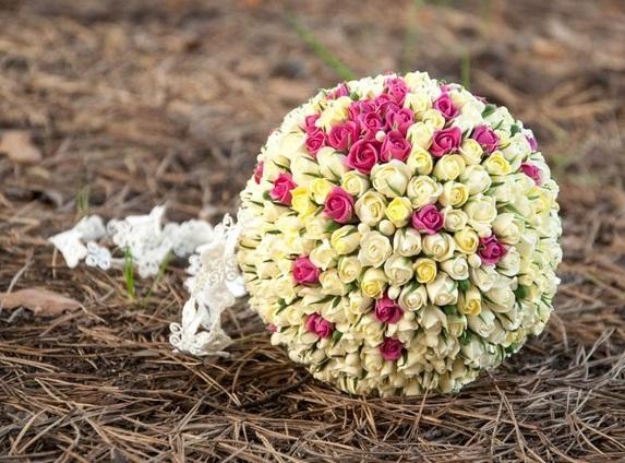 buket-sharik Свадебный букет - шар