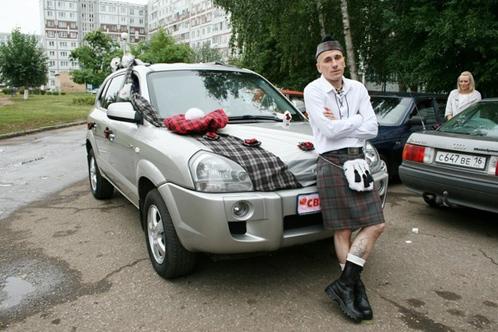 "dekor-avto-shotlandiya Свадьба в стиле ""Шотландия"""
