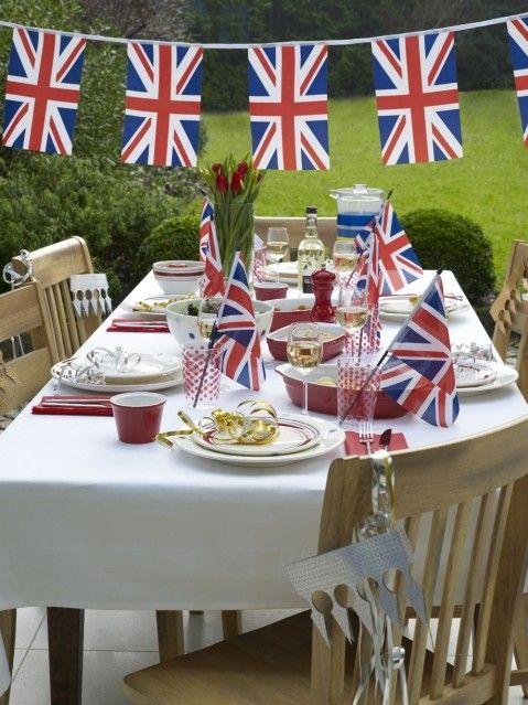 "dekor-stola-Angliya Свадьба в стиле ""Англия"""