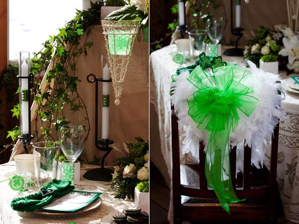 dekor-stola-St-Patricks-Day-Wedding Какие есть свадебные аксессуары для украшения свадебного стола