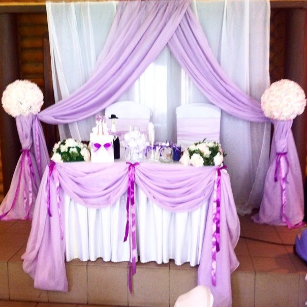 "dekor-zala-siren Свадьба в стиле ""Сирень"": используем цветы сирени и сиреневый цвет"
