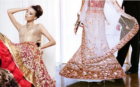 indiiskoe-sari-v-belom-zolote Свадьба в индийском стиле