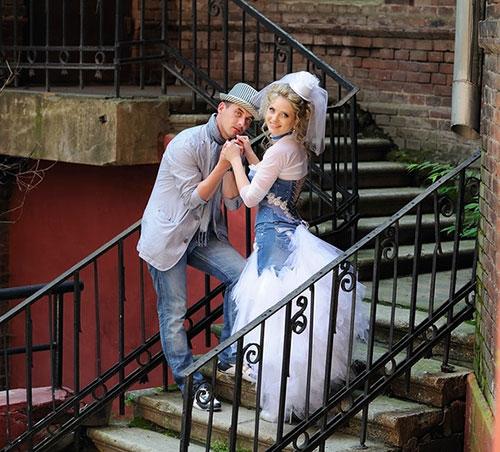 Экстравагантная джинсовая свадьба
