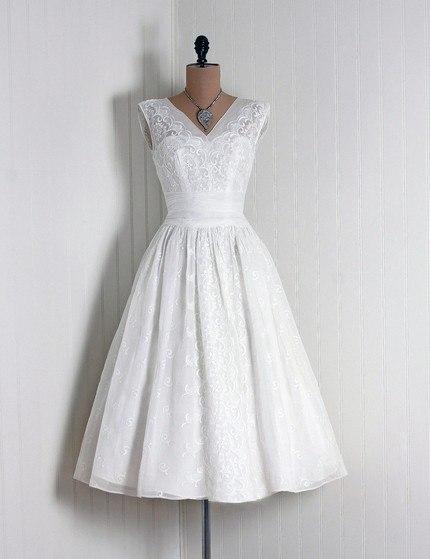 koktejlnoe-plate-1 Свадебные платья в стиле 1950 года