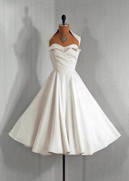 koktejlnoe-plate-3 Свадебные платья в стиле 1950 года