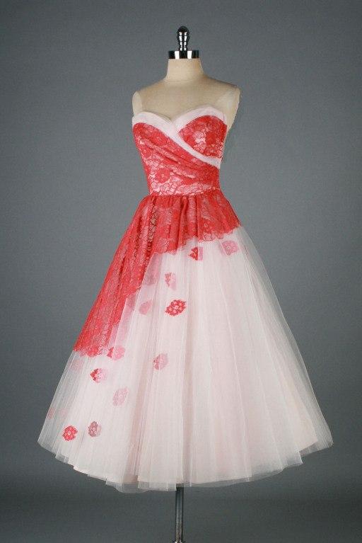 koktejlnoe-plate-8 Свадебные платья в стиле 1950 года