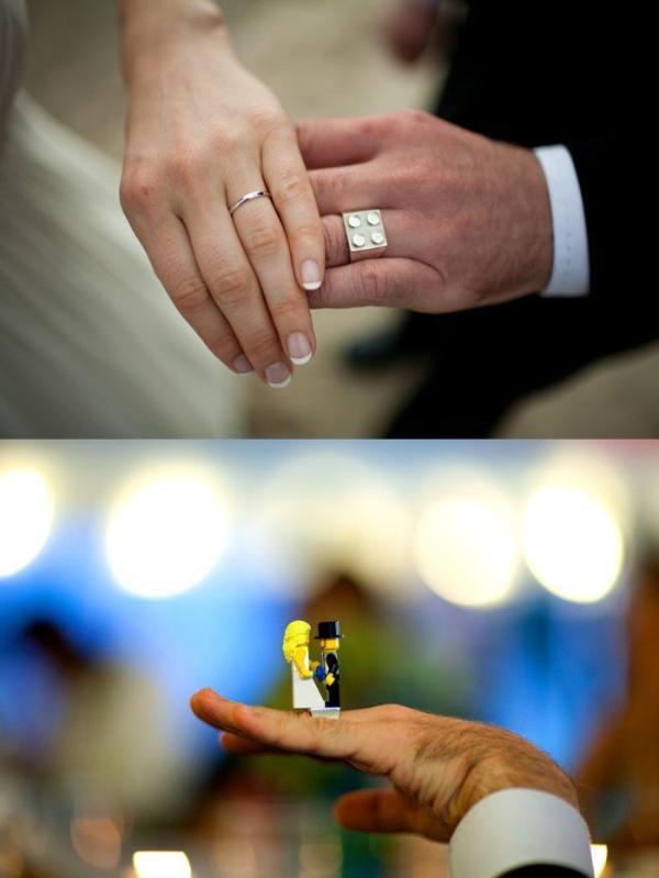 koltsa-dlya-molodozhenov-lego Свадьба в стиле LEGO