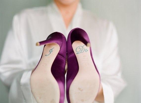 """Наклейка на свадебные туфли """"Я согласна"""""""