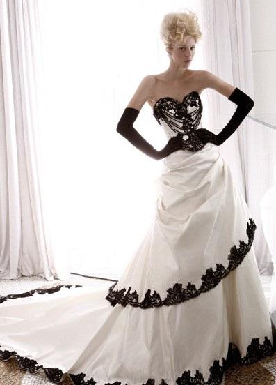 plate-CHB Свадьба в черно-белом стиле