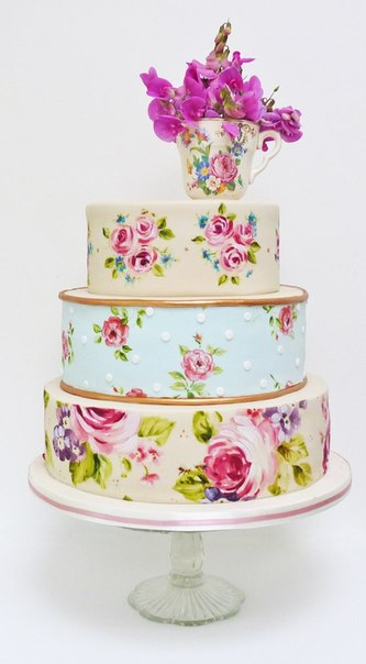 rospisnye-svadebnye-torty-2 Ручная роспись свадебных тортов