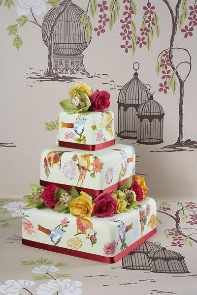 rospisnye-svadebnye-torty-5 Ручная роспись свадебных тортов