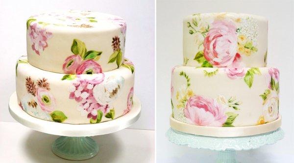rospisnye-svadebnye-torty-61 Свадебные торты,сладкий и  важный момент при организации свадьбы!
