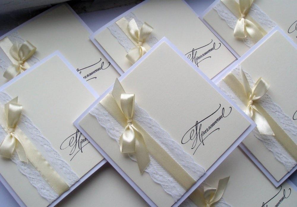 Свадебный хенд-мэйд: создание свадебных приглашений