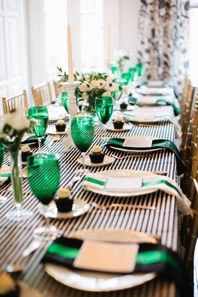 "servirvoka-stola-izumrud Свадьба в стиле ""Изумруд"""