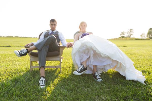 Спортивная обувь для невесты