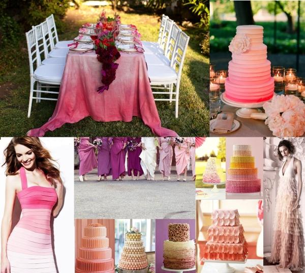 svadba_v_stile_ombre_idei_dlya_svadebnogo_torzhestva10 Свадьба в стиле ombre: создаем интересную игру красок в оформлении