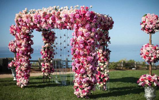 Свадебные арки из цветов : шедевры флористики в оформлении свадьбы!