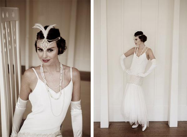 Ретро-стиль: Образ невесты в стиле 20-х годов ХХ века