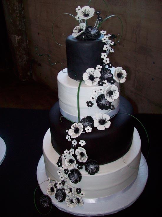 tort-CHB Свадьба в черно-белом стиле