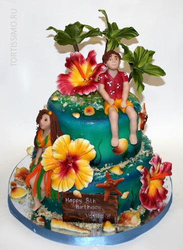 tort-gavai Свадьба в гавайском стиле