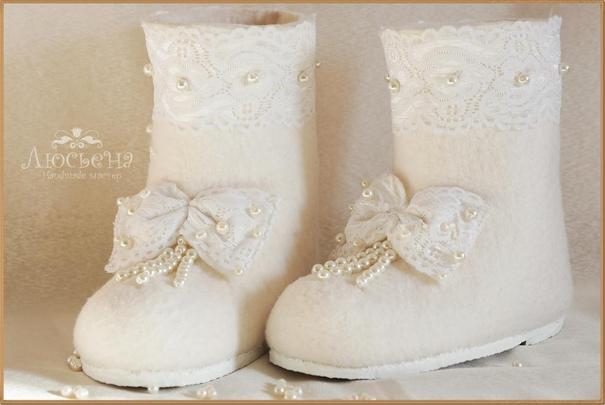 valenki Свадебные валенки - обувь для зимней свадьбы