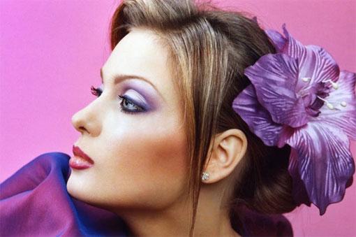 Яркий макияж – для яркой невесты