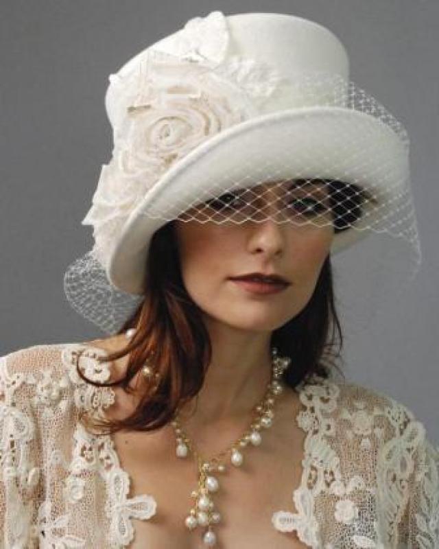 12_9_4 Свадебные шляпки- какие шляпки можно одеть невесте?