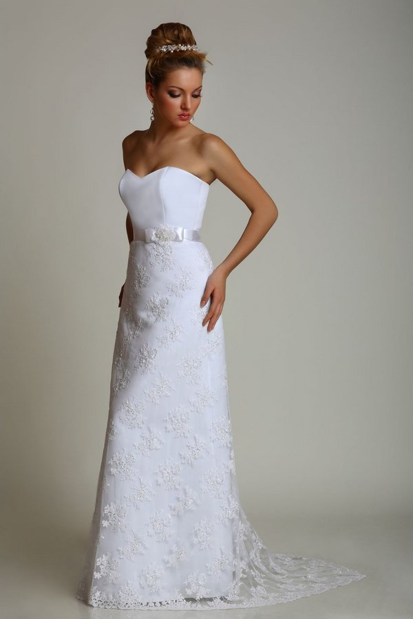 170169_large Свадебные платья прямого силуэта