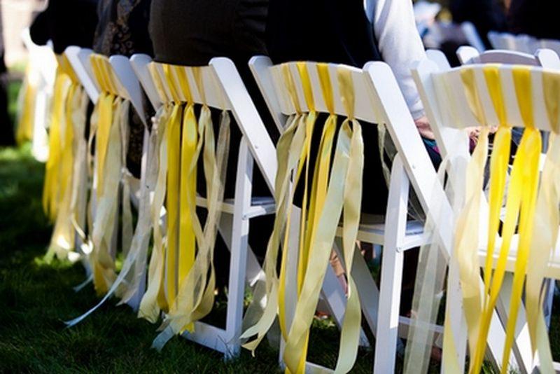 Идеи украшения стульев на свадьбу