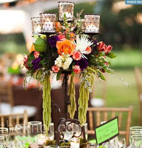 2990454c Композиции на свадебный стол с канделябрами