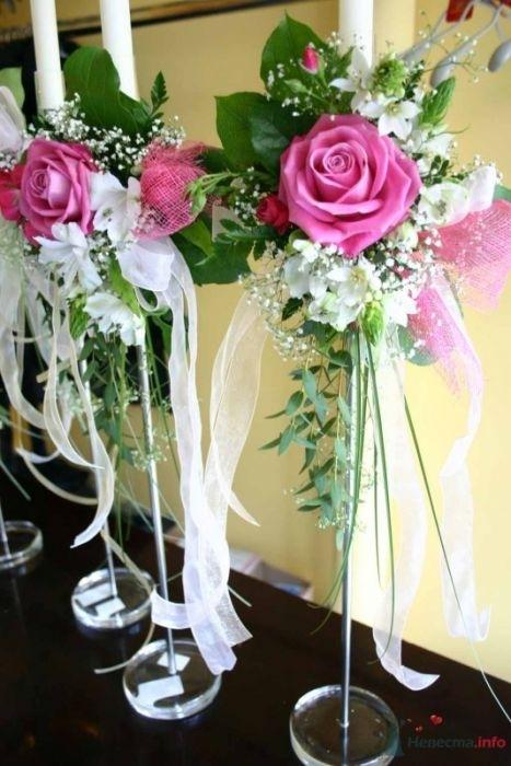 Композиции на свадебный стол с канделябрами