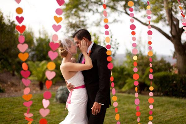 Идеи свадебного декора из бумаги