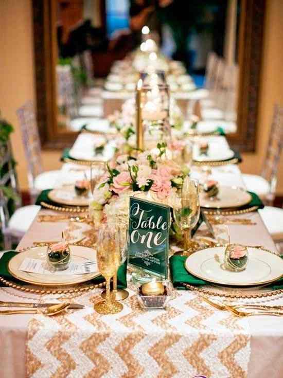 Шеврон в оформлении свадьбы: современная и модная тенденция в свадебном декоре