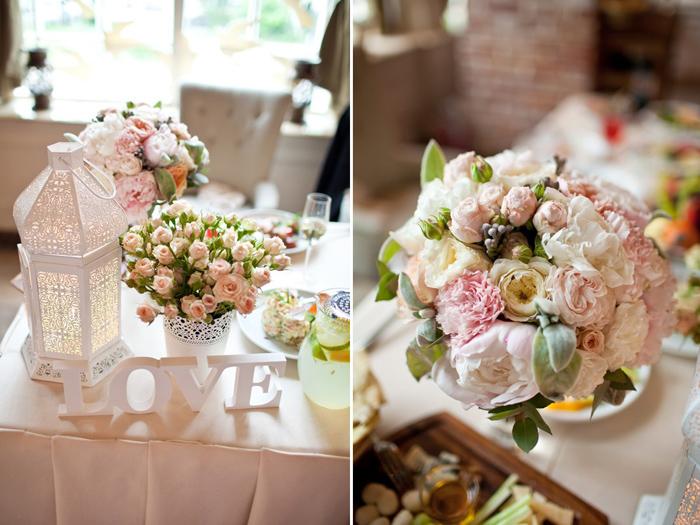 Винтаж в декоре свадебного стола