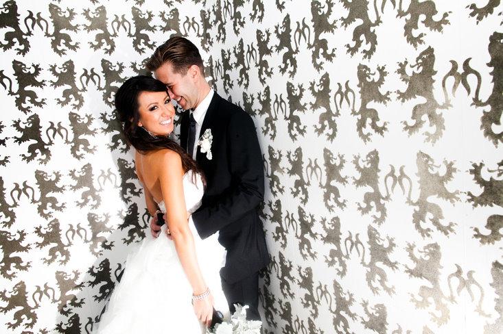 Декор свадьбы в черно- белых тонах