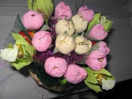IMG_4475 Свадебные букеты из конфет