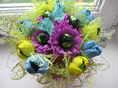 IMG_4545 Свадебные букеты из конфет