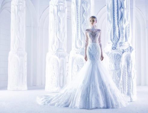 Наряд для снежной королевы от дизайнера Michael Cinco