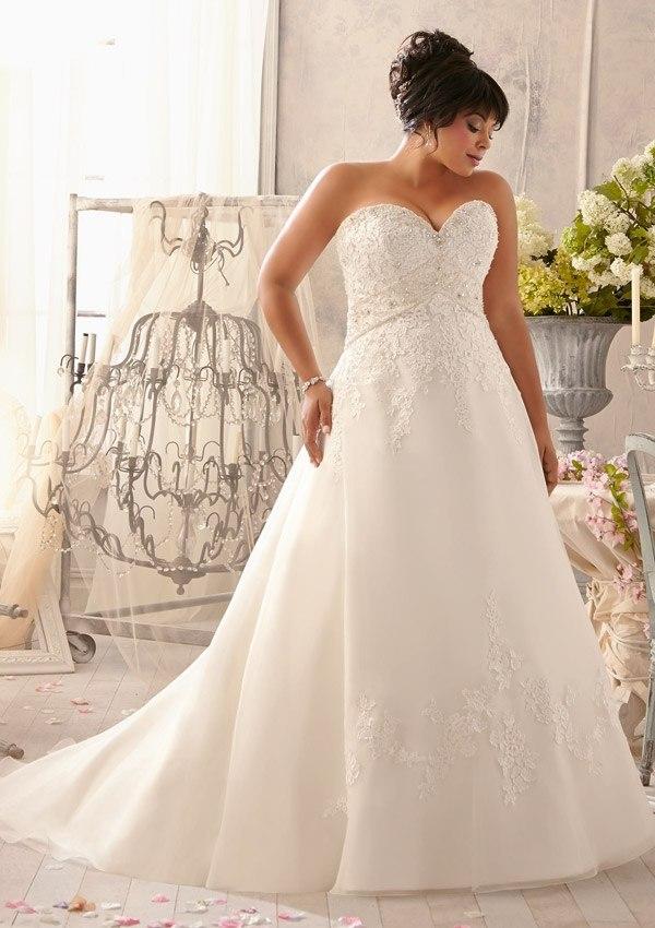 Коллекция свадебных платье для роскошных женщин от Mori Lee