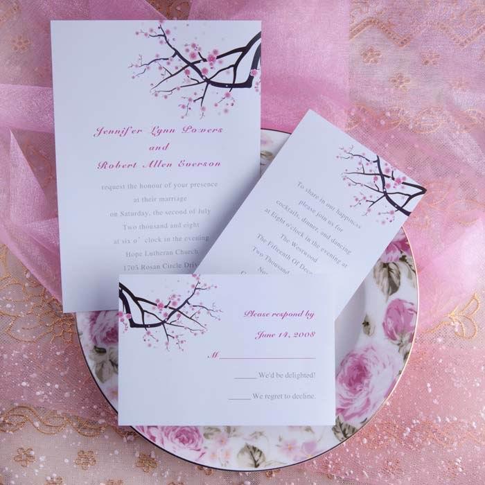 Simple-Pink-Plum-Blossom-Wedding-Invitations-p-UKI130 Свадьба в стиле «Сакура»: прекрасная весенняя свадьба