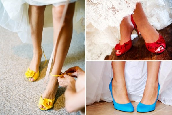 bbf692807fa8 Яркая свадебная обувь невесты