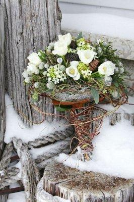 beautiful-winter-wedding-bouquets-7 Модные зимние букеты: принцип выбора цветов на свадьбу, которые выдержат холод