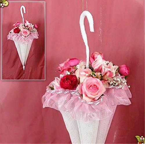buket-zont Свадебный букет в виде зонтика: модная тенденция у свадебного букета.