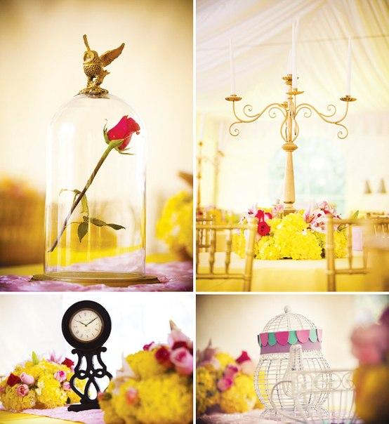 """dekor-zala-krasavitsa-i-chudovishhe Свадьба в стиле сказки """"Красавица и чудовище"""""""